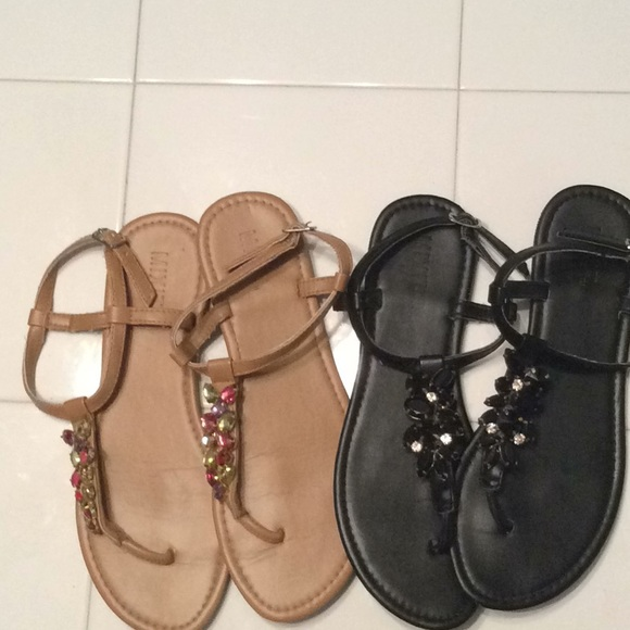 a2037a8d5d55 Two pairs of Mixit jeweled sandals. M 5b7c6e0e34e48a6eda26c7e7